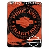 "Harley-Davidson Wheels Bar & Shield Throw Blanket 46"" x 60"""