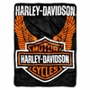 "Harley Davidson Wings Fleece Throw  50"" x 60"""