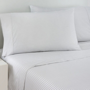 Izod-Grey Ticking Stripe Sheet Set