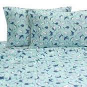 JAWS Shark Pattern Twin Sheet Set by Melanie & Max