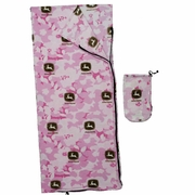 John Deere Pink Camo Sleeping Bag