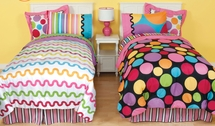 "Little Miss Matched  ""Ditsy Dot"" Bed In A Bag Set-Queen Size"
