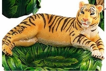 Rainforest Soap Dish with Bengal Tiger