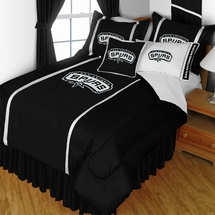 San Antonio Spurs NBA Basketball Bedding-Sidelines