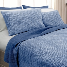 Stonewash Basketweave Quilt Sets by Scent-Sation Inc. (3 color choices)