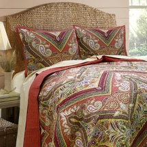 Tangiers Cotton Quilt Set by Scent-Sation, Inc.  Tangerine