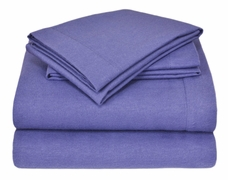 Winter Nights Flannel Sheet Set- Solid Color- 100% Cotton
