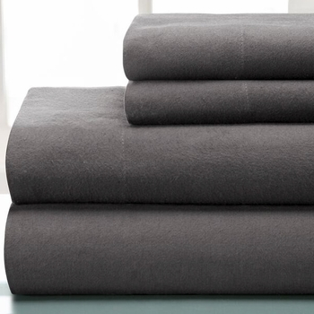 Winter Nights Flannel Sheet Set Graphite