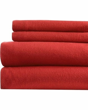 Winter Nights Flannel Sheet Sets Red