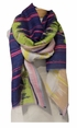 Banaris Linen, Cotton, Silk Stole w/ Audio Print -Moss