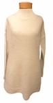 Eileen Fisher Airy Washed Mohair Bateau Neck Tunic - Soft White