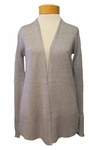 Eileen Fisher Linen Delave Straight Long Cardigan - Pewter