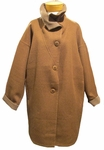 Eileen Fisher Baby Alpaca Double Face Funnel Neck Coat - Allspice