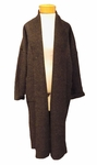 Eileen Fisher Boiled Wool Kimono Calf Length Coat - Charcoal - (Size L)