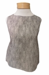 Eileen Fisher Chainette Printed Organic Cotton Roundneck Shell - Natural- (Size S)