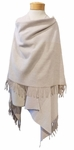 Eileen Fisher Colorblocked Reclaimed Cotton Poncho - Milkwood