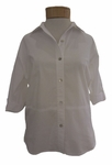 Eileen Fisher Cotton StretchLawn Classic Collar Shirt - White