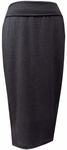 Eileen Fisher Cozy Tencel Stretch Jersey Foldover Calf Length Skirt - Charcoal - (Size S)