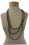 Eileen Fisher Crystal Beaded Silk Necklace - Black