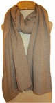 Eileen Fisher  Ethereal Merino Rib Scarf - Almond