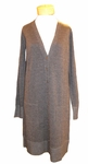 Eileen Fisher Fine Merino Plaited Jersey V-Neck Boyfriend Cardigan - Charcoal