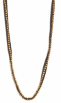 Eileen Fisher Hand Beaded Necklace - Ash