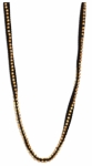 Eileen Fisher Hand Beaded Necklace - Black Gold
