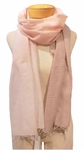 Eileen Fisher Hand Loomed Ethiopian Cotton Stripe Mix Scarf - Opal