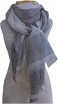 Eileen Fisher Handloomed Organic Cotton & Silk Ikat Scarf - Soft White - SOLD OUT