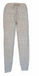 Eileen Fisher Heathered Linen Cotton Terry Slim Ankle Pant - Moon