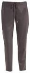 Eileen Fisher Heathered Stretch Flannel Twill Ankle Pant - Charcoal