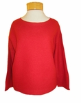 Eileen Fisher Lightweight Boiled Wool Bateau Neck - Lacquer