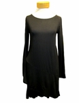 Eileen Fisher Lightweight Viscose Jersey Bateau Neck Tunic - Black - SOLD OUT