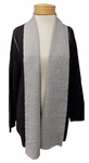 Eileen Fisher Merino Doubleknit with Organic Cotton & Cashmere Cardigan - Charcoal