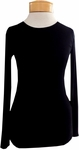Eileen Fisher Micro Tencel Ribstretch Round Neck Top - Black