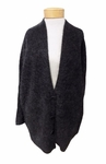 Eileen Fisher Mohair Plush Melange V-neck Long Cardigan - Charcoal - (Size XS)
