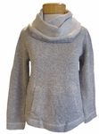 Eileen Fisher Organic Cotton Twisted Terry Funnel Neck Box Top - Ash - SOLD OUT