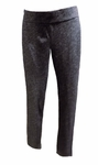 Eileen Fisher Organic Cotton & Wool Bias Twist Slouch Pant - Charcoal - (Size L)
