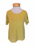 Eileen Fisher Organic Linen Jersey Scoop Neck Boxy Tee - Papyrus - SOLD OUT