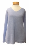 Eileen Fisher Organic Linen V-Neck Knit Top - Morning Glory - (Size L)