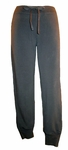 Eileen Fisher Organic Stretch French Terry Slim Drawstring Pant - Black