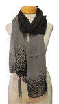 Eileen Fisher Dappled Sheer Silk Georgette Scarf - Black