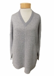 Eileen Fisher Plaited Cashmere V-neck Tunic - Moon