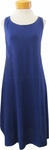 Eileen Fisher Scoop Neck Knee Length Dress - Blue Violet