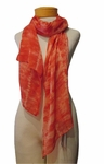 Eileen Fisher Sheer Painterly Shibori  Scarf - Sunset