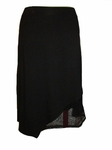 Eileen Fisher Viscose Jersey Knee Length Wrap Skirt - Black - (Size M)