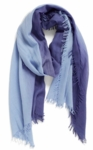Eileen Fisher Silk Cashmere Ombre Scarf - Periwinkle - SOLD OUT