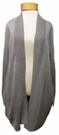 Eileen Fisher Sleek Tencel Merino Knit Kimono Cardigan - Pewter