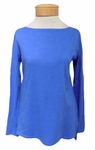Eileen Fisher Slubby Organic Cotton Jersey Bateau Neck Top - Bluebell