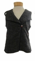 Eileen Fisher Static Stretch Jacquard Hooded Vest with zip - Charcoal